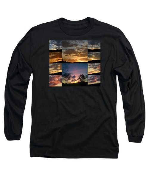 Sunset On Hunton Lane Long Sleeve T-Shirt by Carlee Ojeda