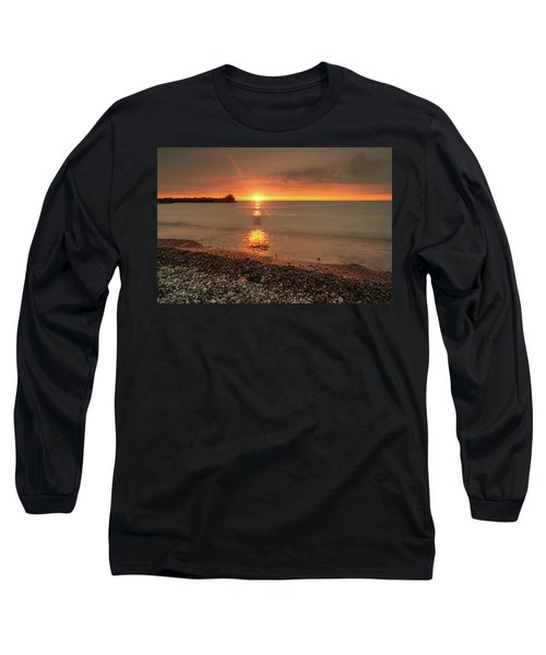 Sunset On Huron Lake Long Sleeve T-Shirt