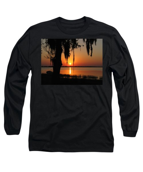 Sunset On Lake Minneola Long Sleeve T-Shirt
