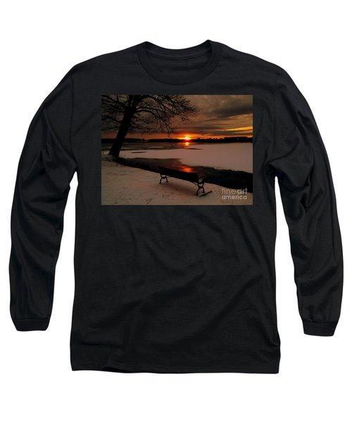 Sunset On Lake Quanapowitt Long Sleeve T-Shirt