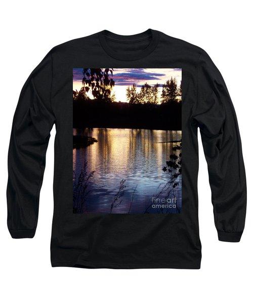 Sunset On River Long Sleeve T-Shirt