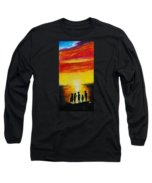 Sunset On The Great Salt Lake Long Sleeve T-Shirt