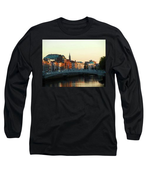Sunset On The Ha'penny Long Sleeve T-Shirt