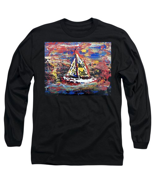 Sunset On The Lake Long Sleeve T-Shirt by J R Seymour