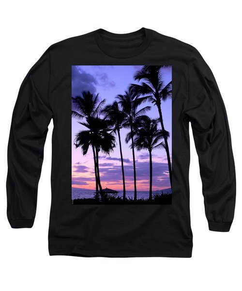 Long Sleeve T-Shirt featuring the photograph Sunset On The Palms by Debbie Karnes
