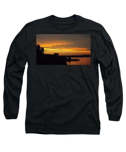 Sunset On The Shore  Long Sleeve T-Shirt by Don Koester
