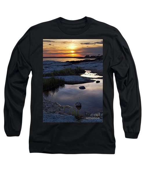 Sunset Over Boothbay Harbor Maine  -23095-23099 Long Sleeve T-Shirt