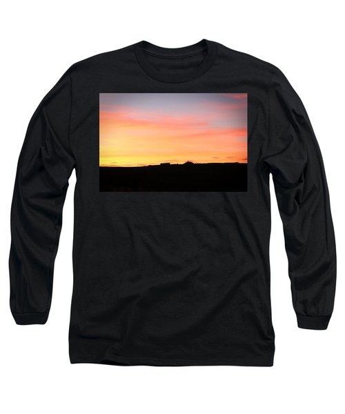 Sunset Over Cairnpapple Long Sleeve T-Shirt by RKAB Works