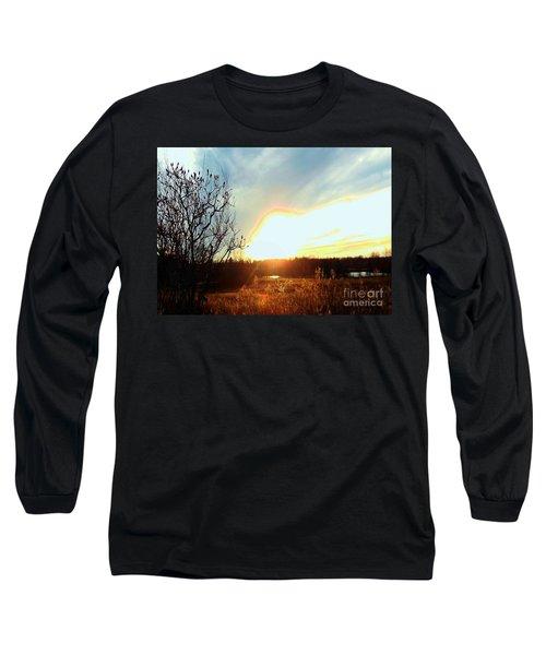 Sunset Over Fields Long Sleeve T-Shirt