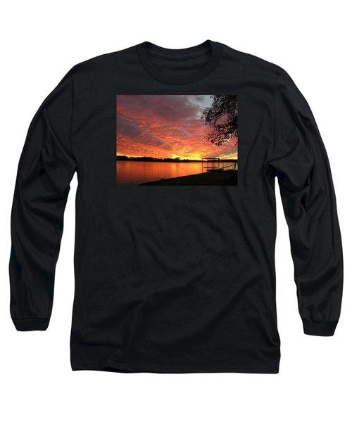 Sunset Over Lake Murray Long Sleeve T-Shirt