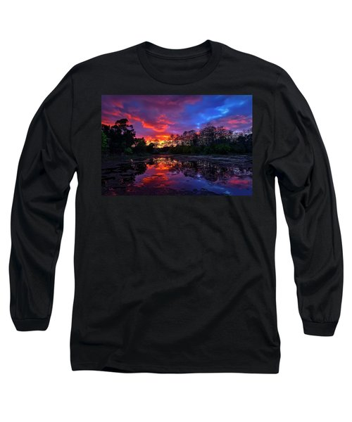 Sunset Over Riverbend Park In Jupiter Florida Long Sleeve T-Shirt