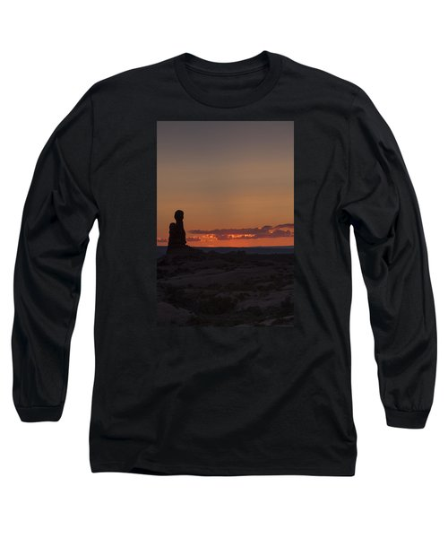 Sunset Over Rock Formation Long Sleeve T-Shirt