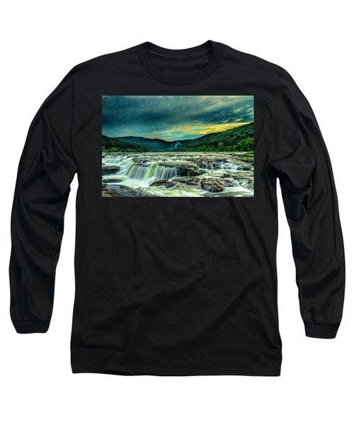 Sunset Over Sandstone Falls Long Sleeve T-Shirt
