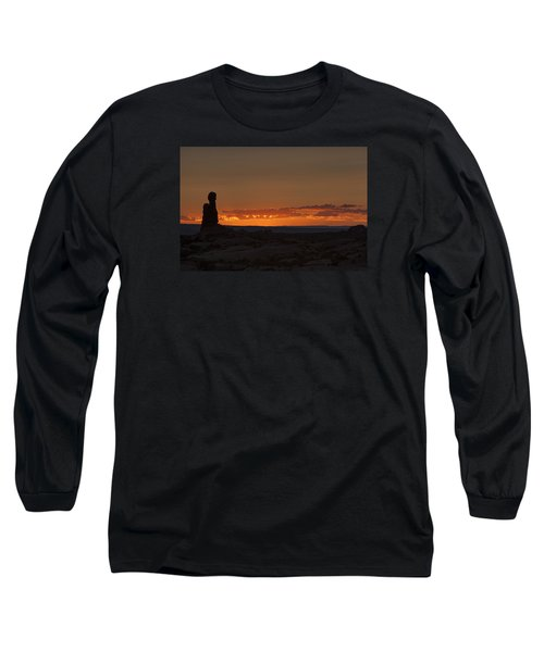 Sunset Over The Petrified Dunes Long Sleeve T-Shirt