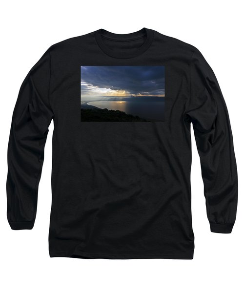 Long Sleeve T-Shirt featuring the photograph Sunset Over The Sea Of Galilee by Dubi Roman