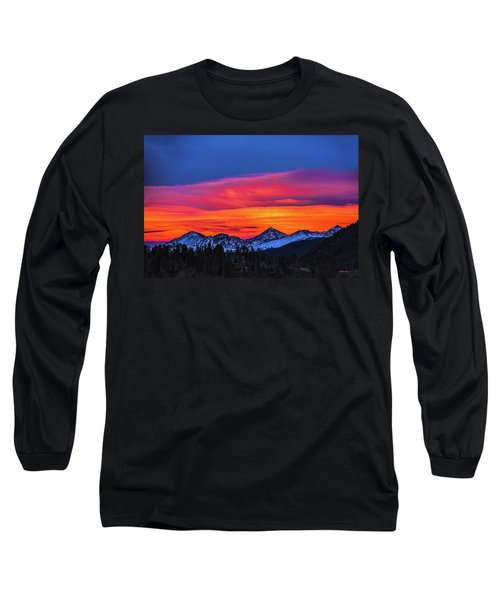 Sunset Over Torreys And Grays Peaks Long Sleeve T-Shirt