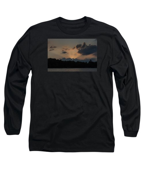 Sunset Over Wilderness Point Long Sleeve T-Shirt by Gary Eason