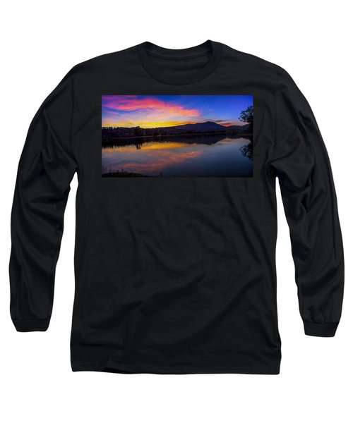 Sunset Panorama Of Mt. Tam And Richardson Bay Long Sleeve T-Shirt