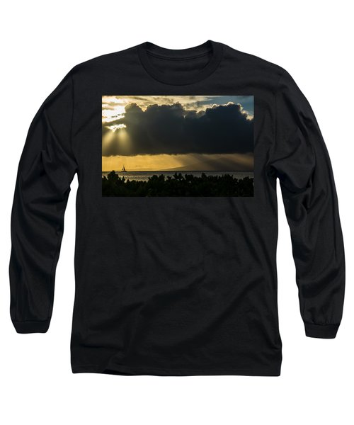 Long Sleeve T-Shirt featuring the photograph Sunset Sail by Colleen Coccia