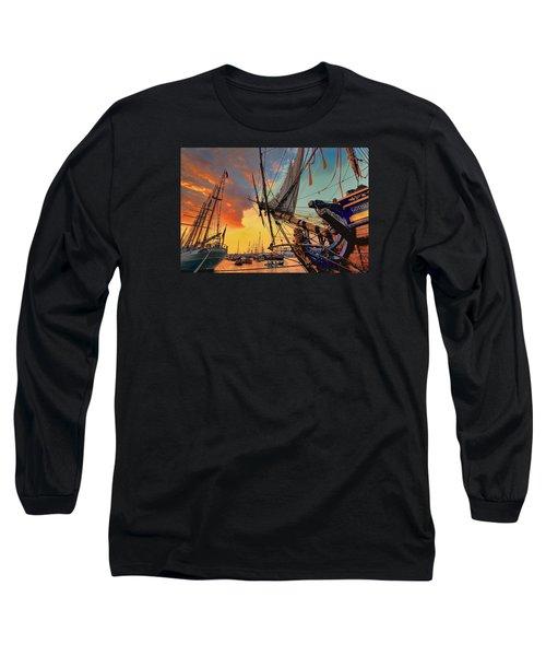 Sunset Sail Long Sleeve T-Shirt by Nadia Sanowar