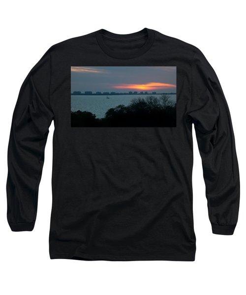 Sunset Sail On Sarasota Bay Long Sleeve T-Shirt