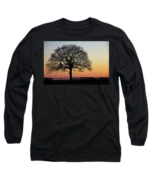 Long Sleeve T-Shirt featuring the photograph Sunset Silhouette by Clare Bambers