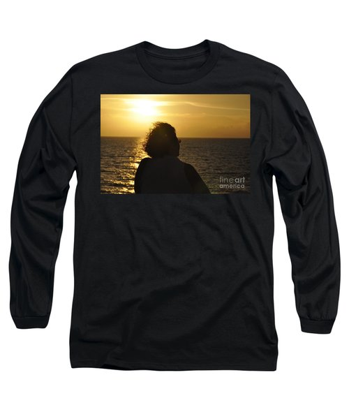 Long Sleeve T-Shirt featuring the photograph Sunset Silhouette by John Black