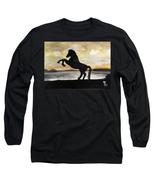 Sunset Stallion Long Sleeve T-Shirt