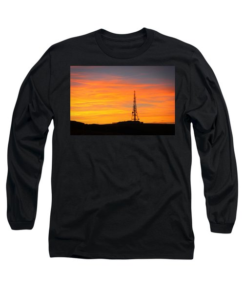 Sunset Tower Long Sleeve T-Shirt by RKAB Works