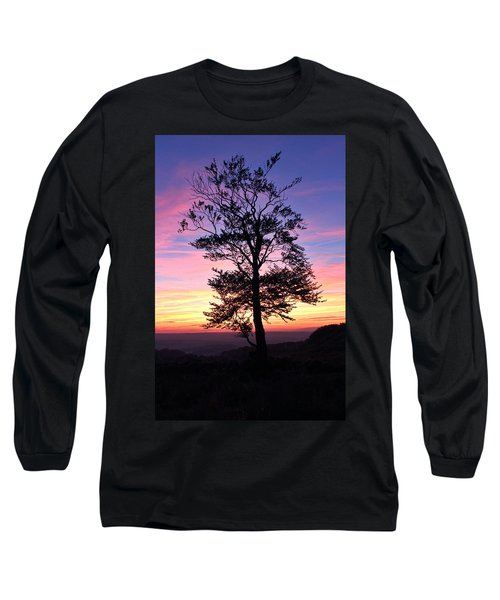 Sunset Tree Long Sleeve T-Shirt by RKAB Works