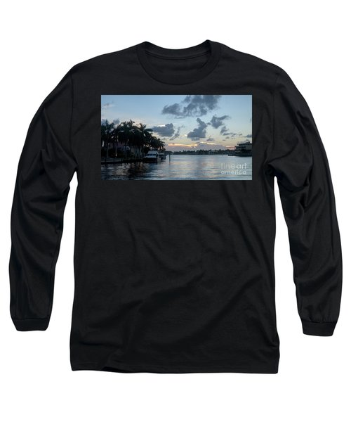 Sunset Tropical Canal Long Sleeve T-Shirt