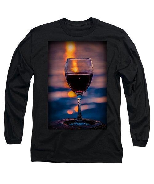 Sunset Wine Long Sleeve T-Shirt