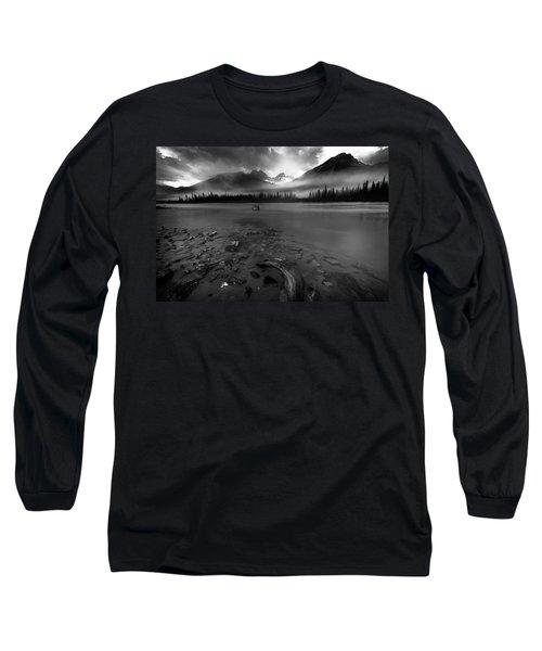 Sunwapta River, Jasper Long Sleeve T-Shirt
