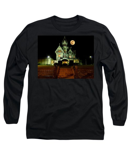 Super Moon Over Carson Mansion Long Sleeve T-Shirt