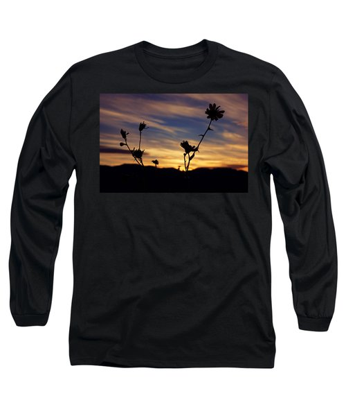 Superbloom Sunset In Death Valley 100 Long Sleeve T-Shirt by Daniel Woodrum