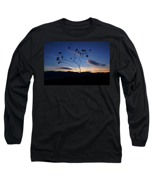 Superbloom Sunset In Death Valley 101 Long Sleeve T-Shirt by Daniel Woodrum