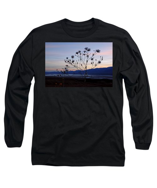 Superbloom Sunset In Death Valley 102 Long Sleeve T-Shirt by Daniel Woodrum
