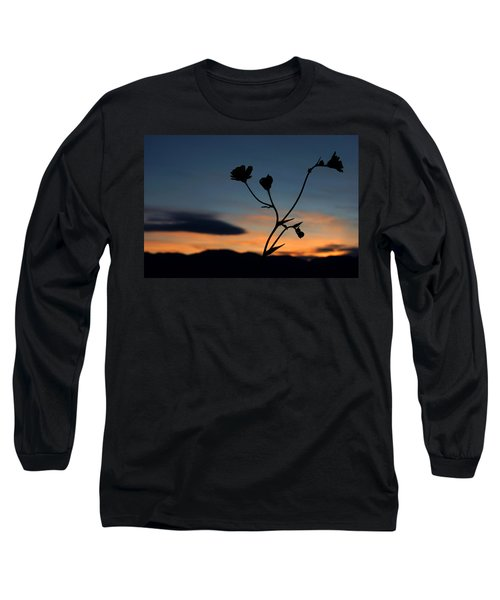 Superbloom Sunset In Death Valley 105 Long Sleeve T-Shirt by Daniel Woodrum