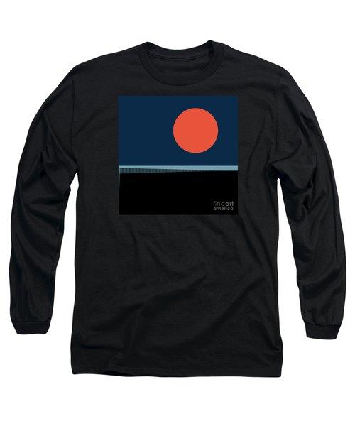 Long Sleeve T-Shirt featuring the digital art Supermoon Over The Sea by Klara Acel