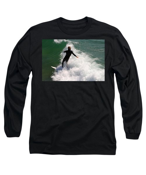 Surfer Catching A Wave Long Sleeve T-Shirt