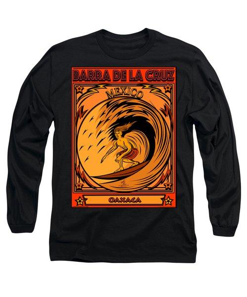 Surfing Barra De La Cruz Mexico Long Sleeve T-Shirt