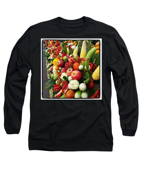 Long Sleeve T-Shirt featuring the photograph Surin Elephant Buffet by Mr Photojimsf