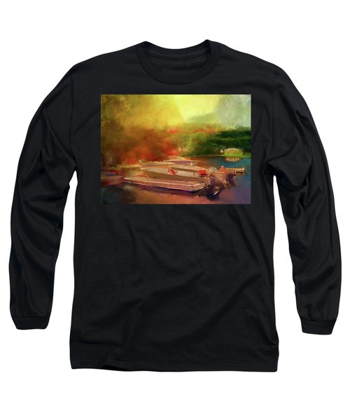 Surreal Sunset In Spanish Long Sleeve T-Shirt