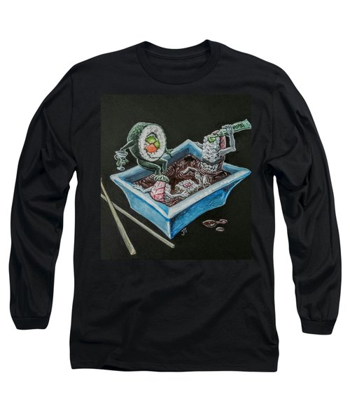 Long Sleeve T-Shirt featuring the painting Sushi Party by Jennifer Hotai