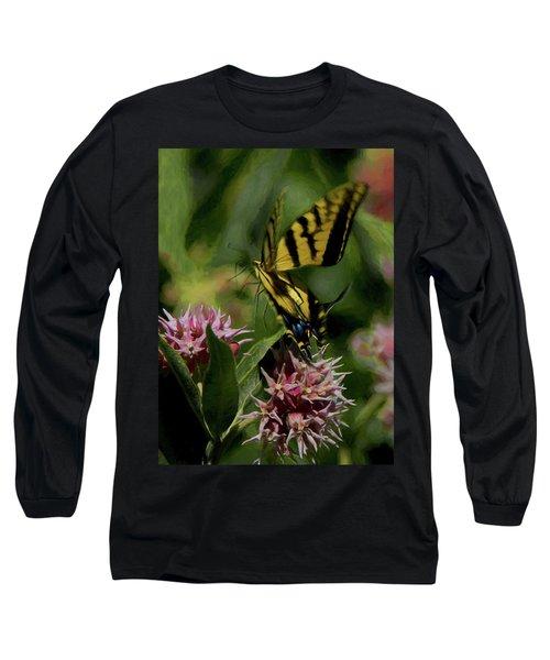 Swallowtail Liftoff Dp Long Sleeve T-Shirt by Ernie Echols