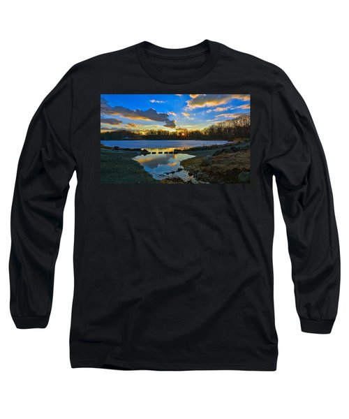 Swan Lake Sunset Long Sleeve T-Shirt by Jeffrey Friedkin