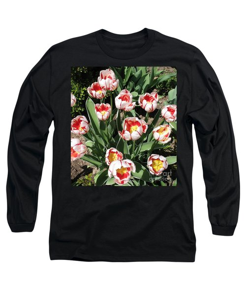 Long Sleeve T-Shirt featuring the photograph Swanhurst Tulips by Jolanta Anna Karolska
