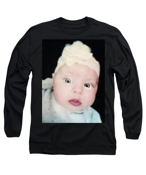 Sweet Baby Girl Portrait Long Sleeve T-Shirt