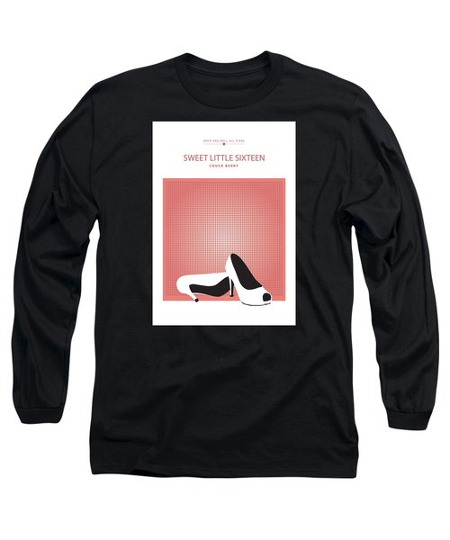 Long Sleeve T-Shirt featuring the drawing Sweet Little Sixteen -- Chuck Berry by David Davies