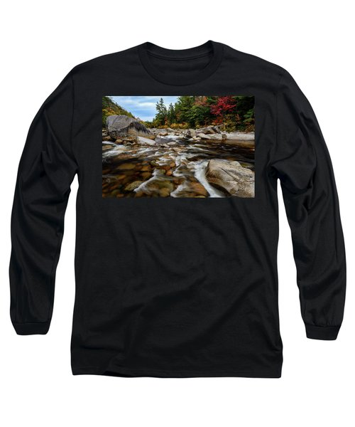 Long Sleeve T-Shirt featuring the photograph Swift River Autumn Nh by Michael Hubley